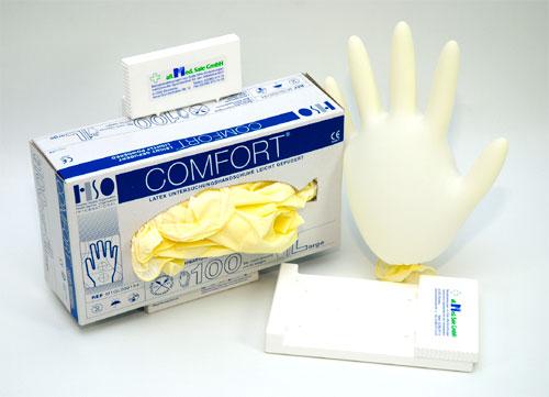 afedabd199e Jednorázové rukavice latexové pudrované vel.